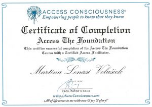 Access Consusness - Certificate